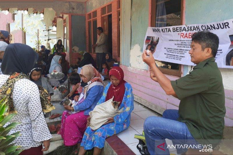 2.759 hewan di Cianjur sudah diberikan vaksin rabies