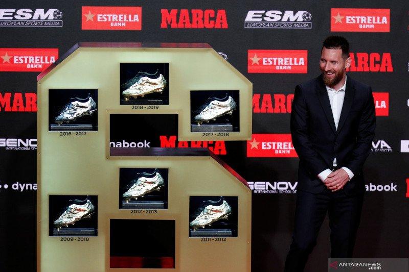 Messi raih penghargaan Sepatu Emas keenam