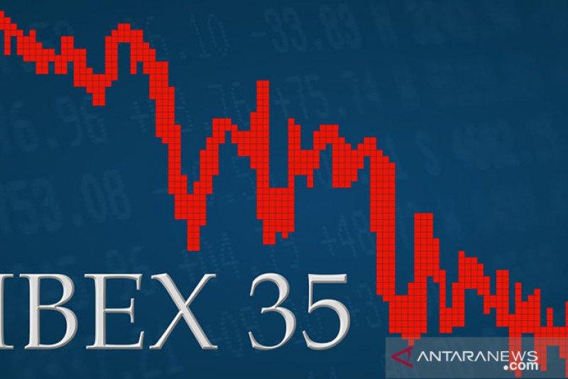Bursa saham Spanyol ditutup lebih rendah