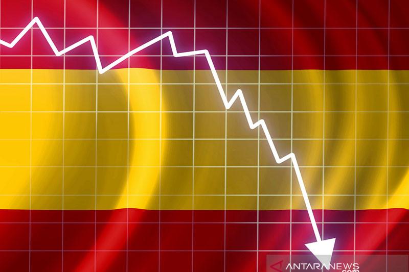 Saham Spanyol berakhir anjlok, indeks IBEX 35 turun 2,21 persen