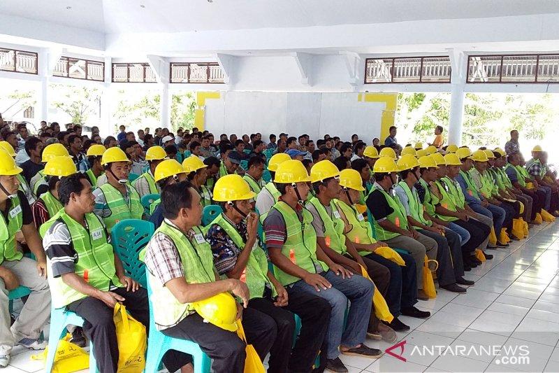 Ratusan tenaga kerja konstruksi di Sangihe mengikuti uji sertifikasi