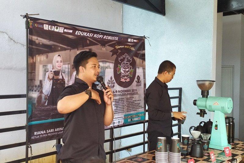 """Edukasi kopi """"road to campus"""" hadir perkenalkan kopi robusta Lampung"""