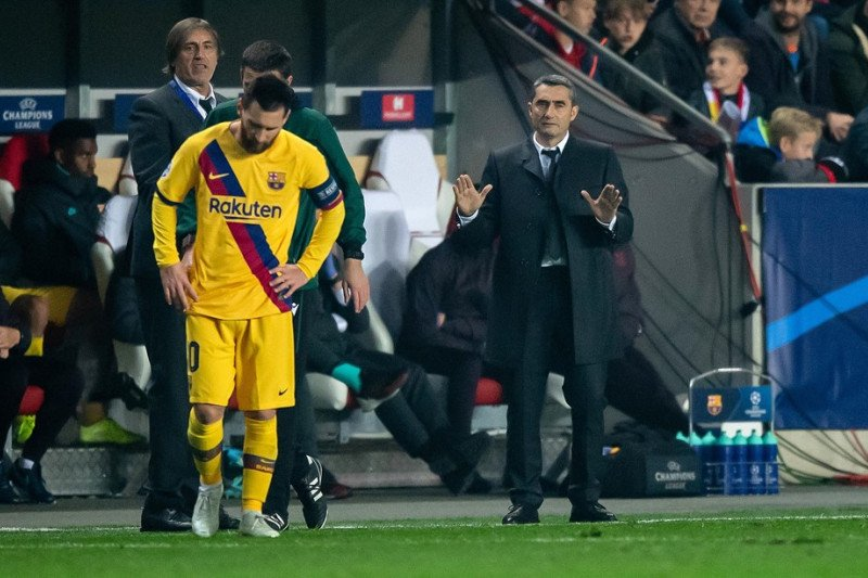 Valverde: Barca kurang tenang saat hadapi Slavia