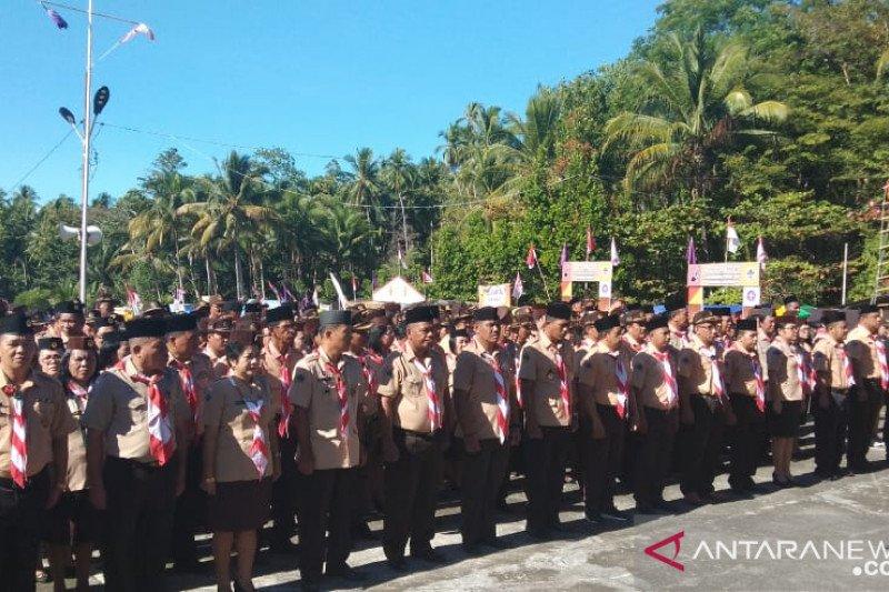 Anggota Pramuka kepulauan laksanakan kemah sambut Sumpah Pemuda