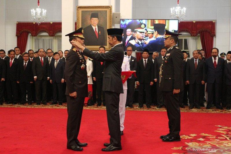 Jadi Kapolri, Idham Azis naik pangkat menjadi Jenderal Polisi