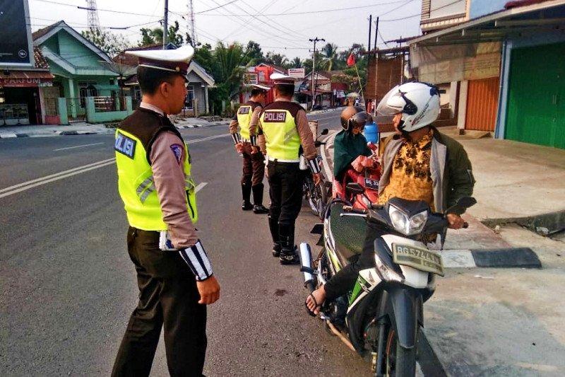 550 kendaraan di Baturaja  terjaring razia Operasi Zebra Musi 2019
