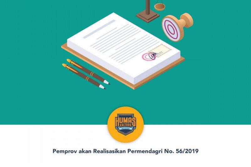 Pemprov akan Realisasikan Permendagri No. 56/2019
