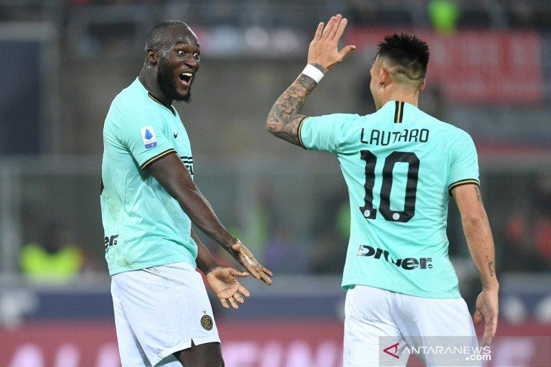 Inter Milan menang 2-1 atas Bologna berkat Lukaku