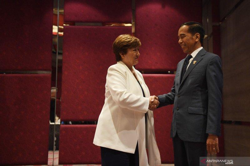 """IMF sebut ASEAN """"titik terang"""" ekonomi global saat bertemu Jokowi"""