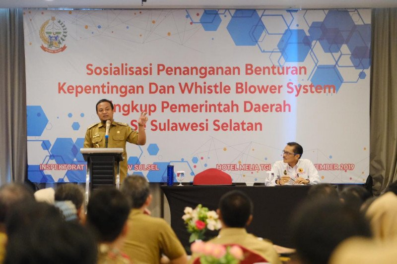 "Pemprov Sulsel intensifkan maksimalkan ""Whistle Blower System"""