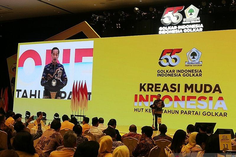Presiden Jokowi ingatkan Golkar agar tetap solid hadapi Munas