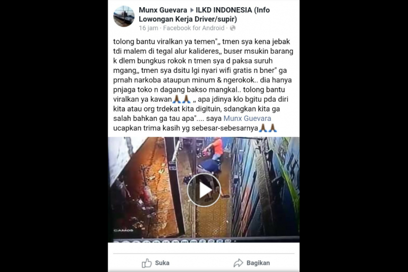 Kisah seorang tukang bakso dituduh miliki narkoba