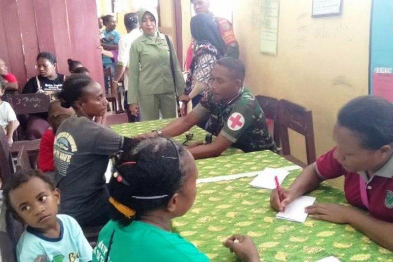 Kodim 1709/Yawa gelar bakti sosial di Waropen Papua