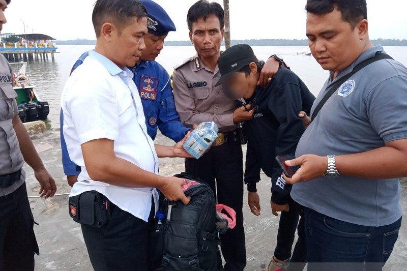 Kurir satu kilogram sabu di pelabuhan Kuala Tungkal ditangkap