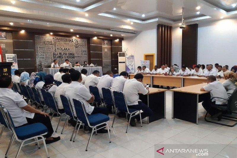 BNN Sultra sosialisasi P4GN-tes urine ASN Balai Wilayah Sungai IV Kendari