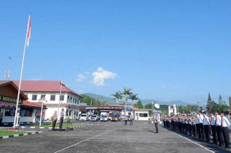 Polres Minahasa apel gelar pasukan Operasi Patuh Samrat