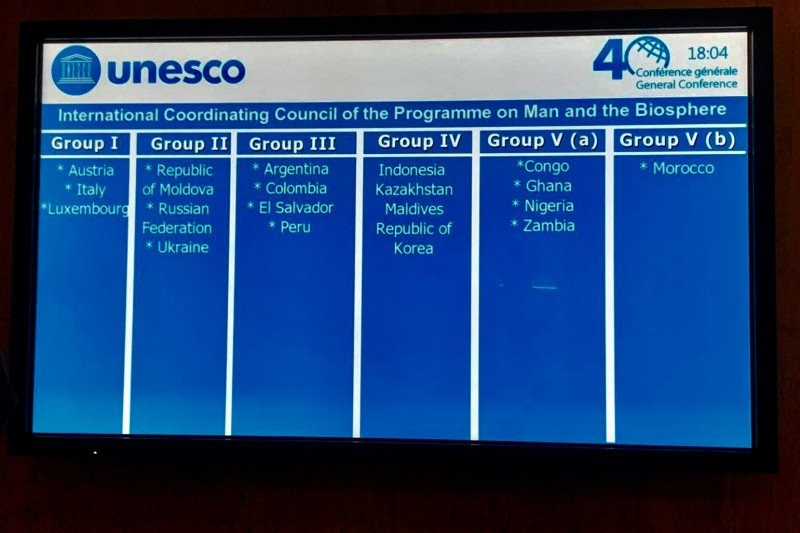 Indonesia terpilih anggota Dewan Biosfer Dunia UNESCO
