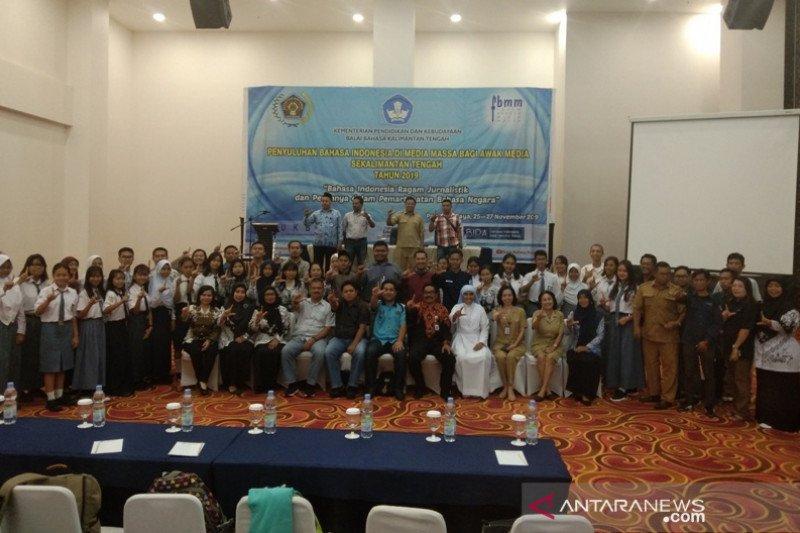 Balai Bahasa lakukan penyuluhan Bahasa Indonesia pada awak media di Kalteng