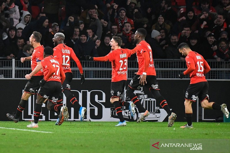 Rennes menang kontra Saint-Etienne berkat gol menit-menit akhir