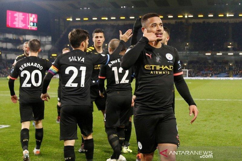 Manchester City hantam Burnley, duduki posisi kedua Liga Inggris