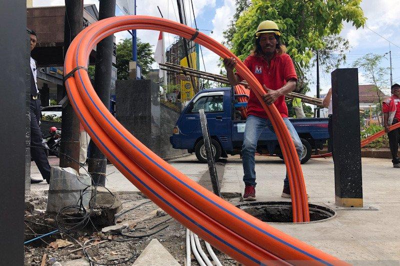 """DPUPKP Yogyakarta lakukan """"ducting"""" FO tahap pertama di Jalan Sudirman"""
