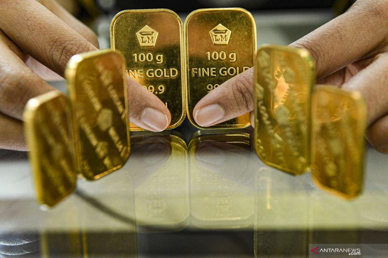 Harga emas Antam terus merosot Rp8.000/gram
