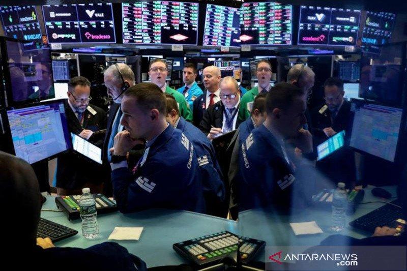 Ketakutan virus mereda, saham-saham Wall Street cetak rekor penutupan tertinggi