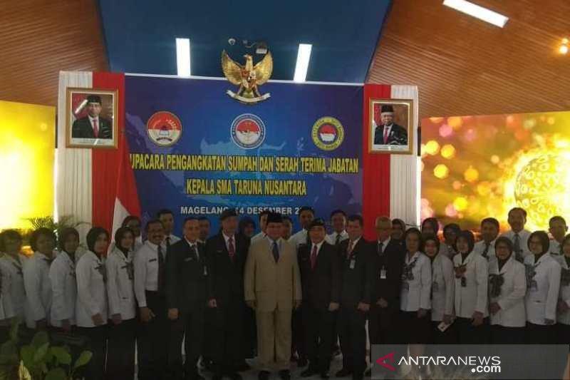 Menhan sebut SMA Taruna Nusantara bukan SMA biasa