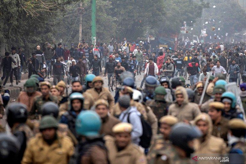 Bentrokan meletus di Ibu Kota India memprotes undang-undang kewarganegaraan