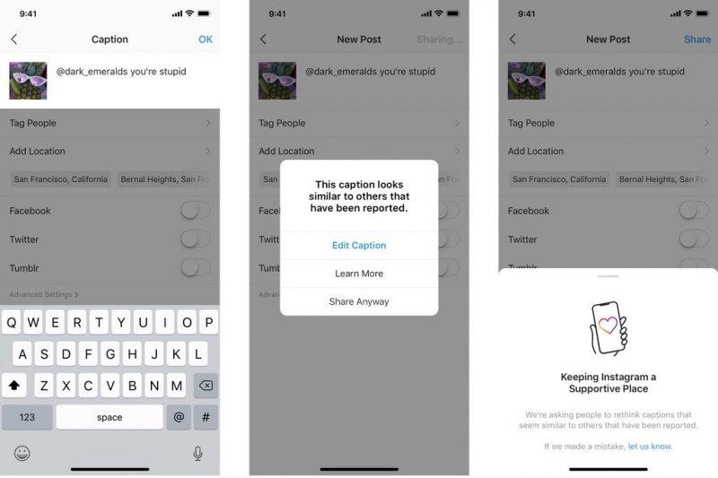Instagram akan peringatkan pengguna yang unggah menyinggung pihak lain