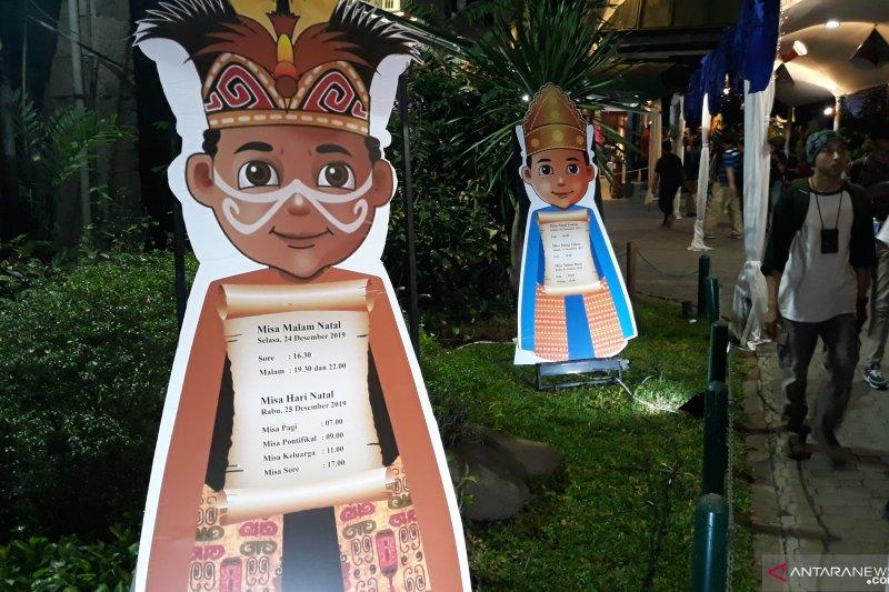 Dekorasi Katedral Jakarta rayakan Natal angkat kekayaan budaya Nusantara