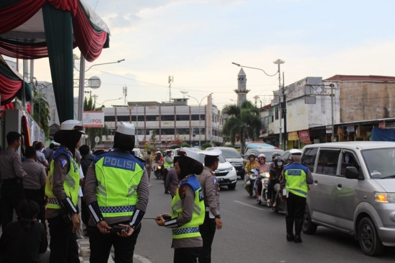 Pengamanan jelang misa Natal di Bandarlampung