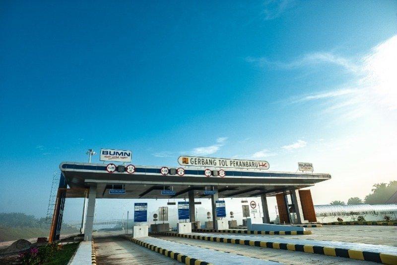 Pembangunan tol Pekanbaru-Dumai sudah selesai 90 persen