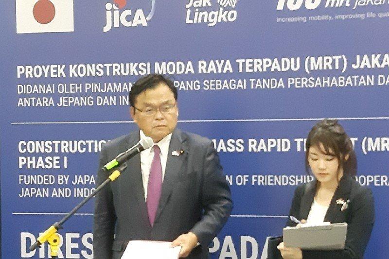 Jepang berharap MRT Jakarta dapat mengatasi masalah kemacetan