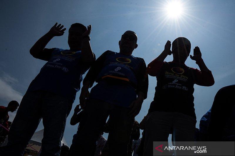 FOTO - Momen Langka Gerhana Matahari Cincin di Siak