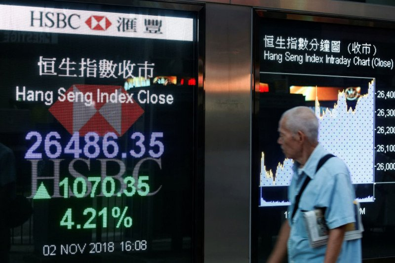 Bursa saham Hong Kong dibuka menguat  0,47 persen