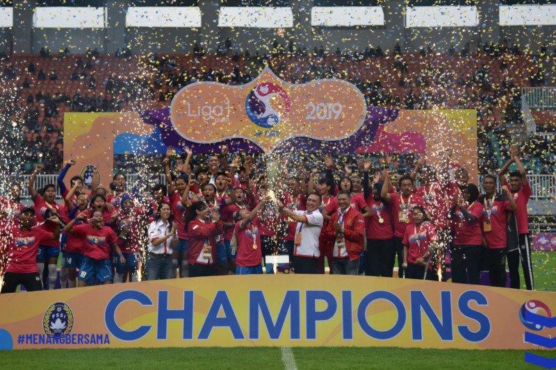 Persib taklukkan Tira 3-1, Juara Liga 1 Putri