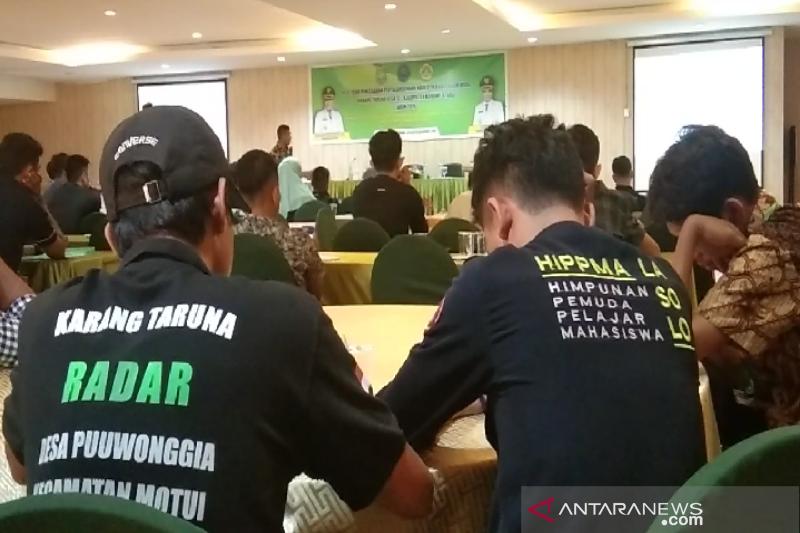 Ratusan pemuda Karang Taruna Konawe Utara diedukasi  soal bahaya narkoba