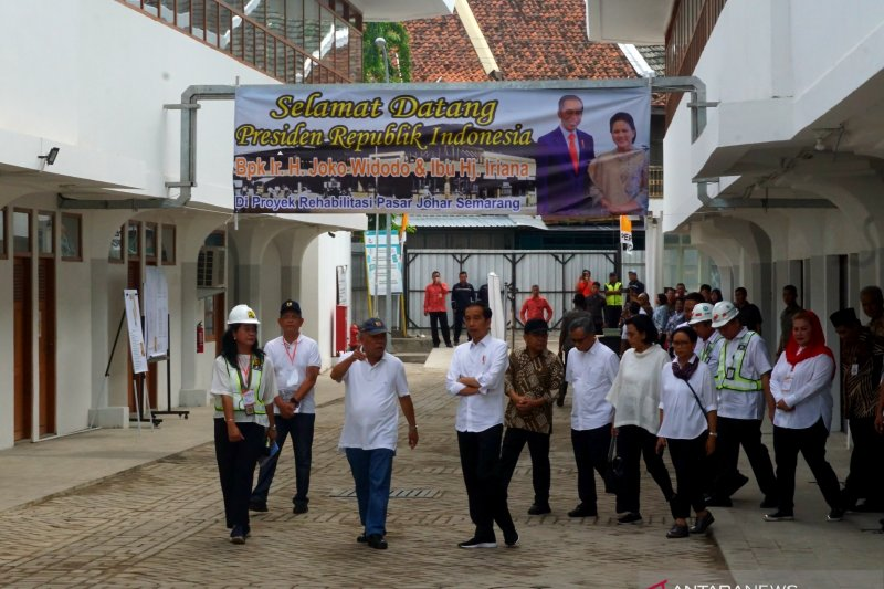 Presiden ajak pedagang jaga kebersihan Pasar Djohar