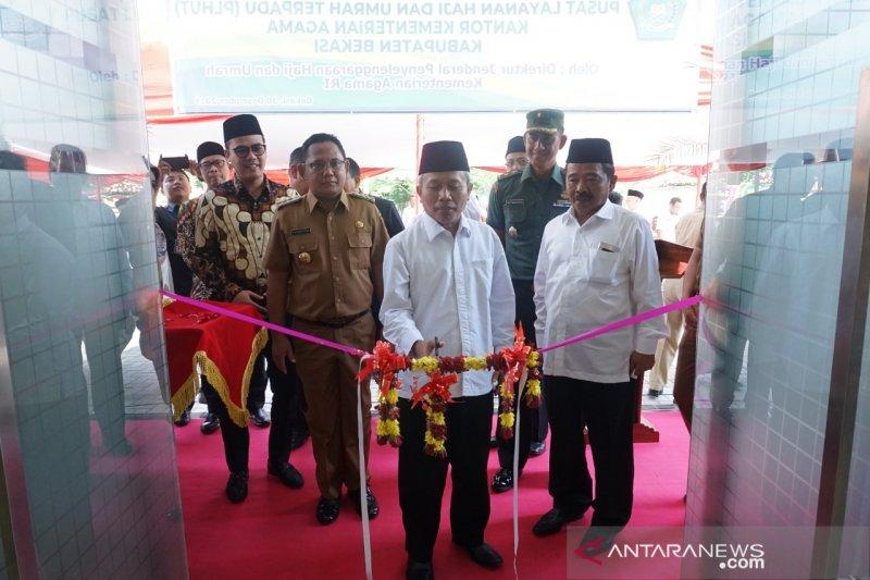Gedung Pusat Layanan Haji dan Umrah Terpadu di Bekasi diresmikan