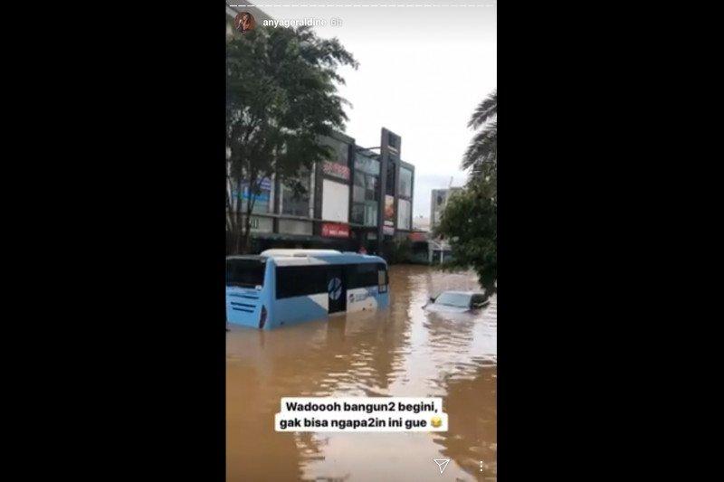 Komentar Anya Geraldine melihat banjir di Jakarta