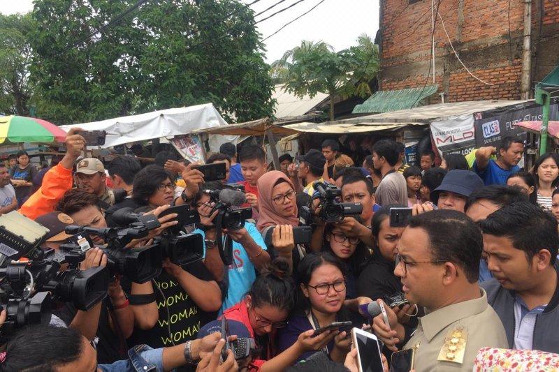 Gubernur Anies Baswedan diteriaki warga saat inspeksi banjir
