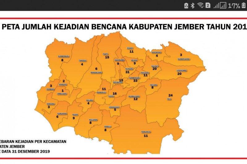 286 bencana terjadi di Kabupaten Jember sepanjang 2019