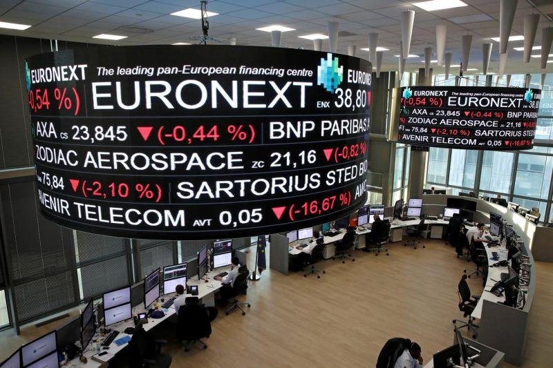 Saham Prancis terpuruk lagi, indeks CAC 40 di Bursa Efek Paris merosot 3,32 persen