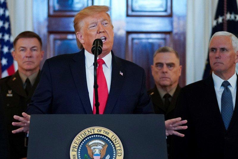 Trump tegaskan tak ada korban akibat serangan rudal Iran