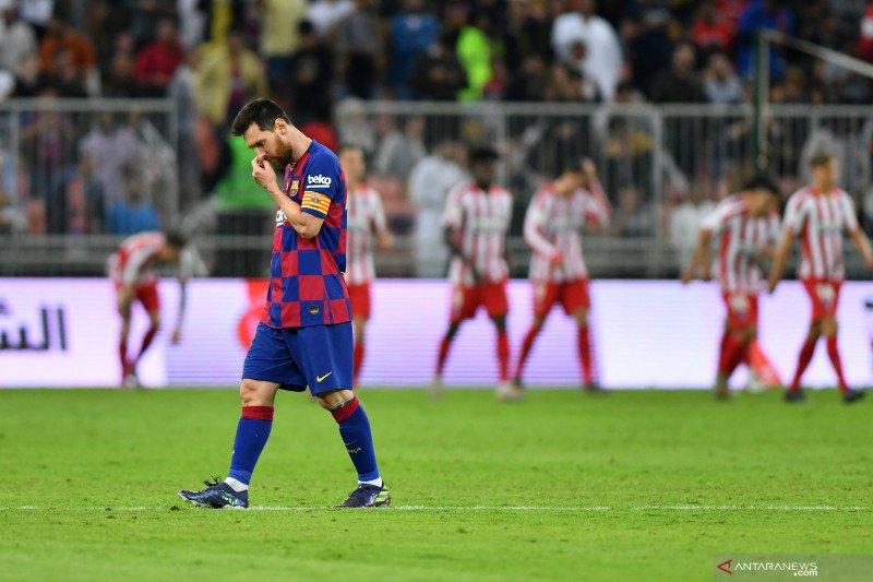Messi mengalami paceklik gol terburuk sejak 2014