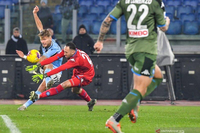 Gol semata wayang Ciro Immobile amankan kemenangan Lazio atas Napoli
