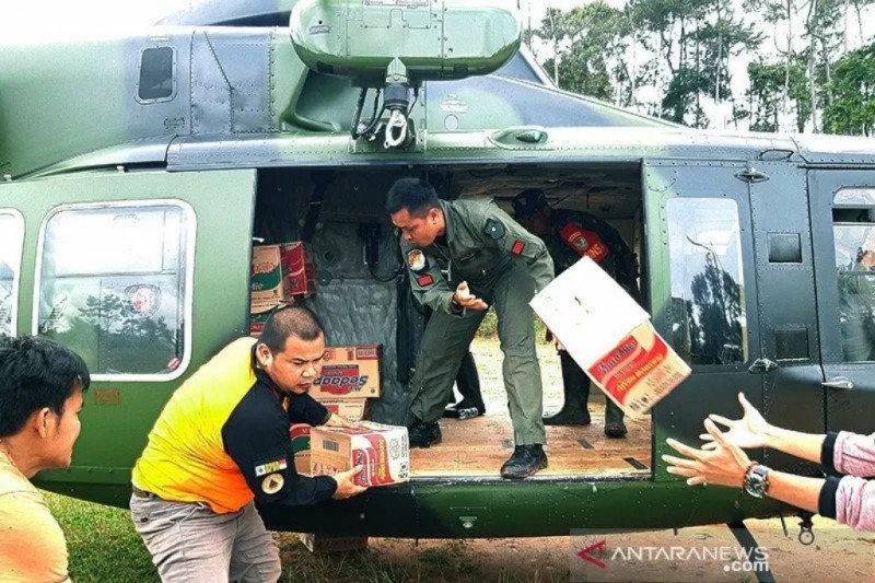 Bantuan logistik di Lebak gunakan helikopter