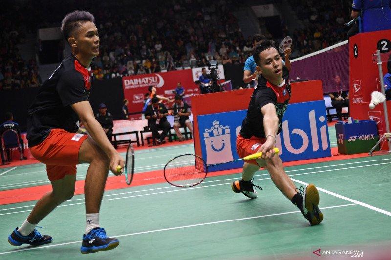 Fajar/Rian berhasil rebut tiket ke babak dua Indonesia Masters