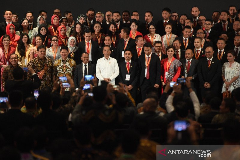 Presiden Jokowi: Kabinet Indonesia Maju seperti kabinet organisasi HIPMI